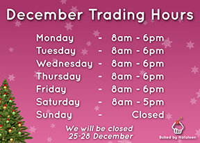 December Trading Hours