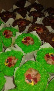 Printed cupcakes