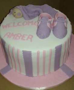 3D Baby Shoes Baby Shower Cake