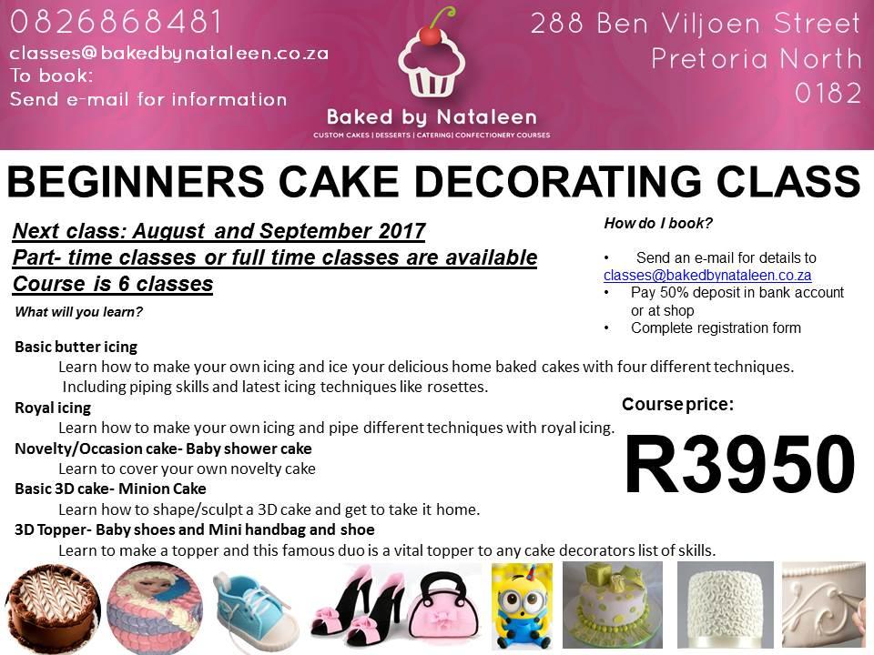 Cake Decorating Classes Pretoria