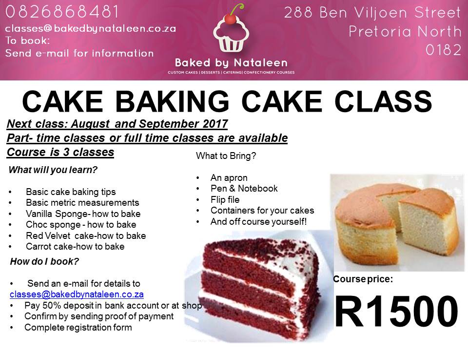 Baking Classes Cake Baking And Decorating Classes