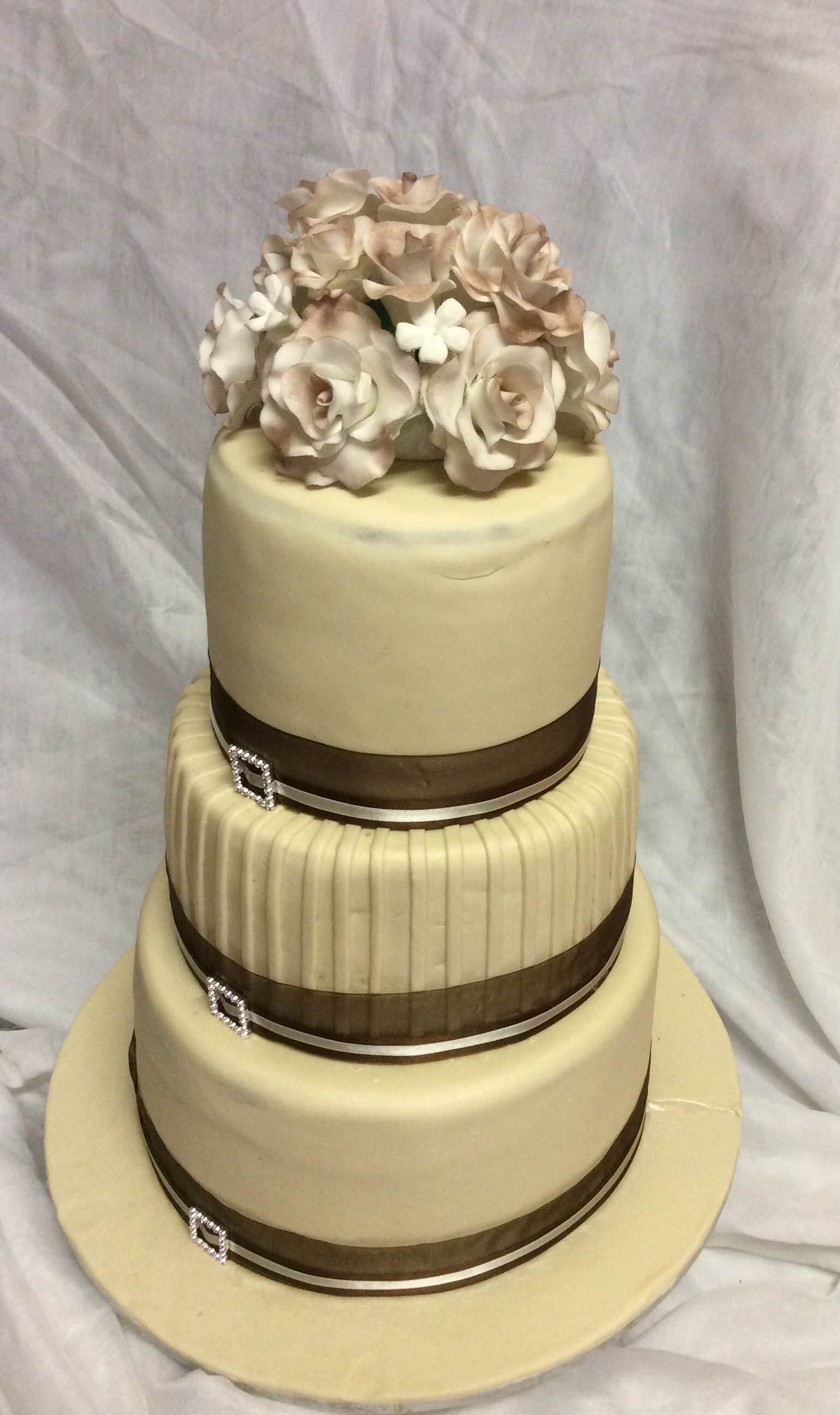 3-tier wedding cakes – R2500 to R4500 | Baked by Nataleen