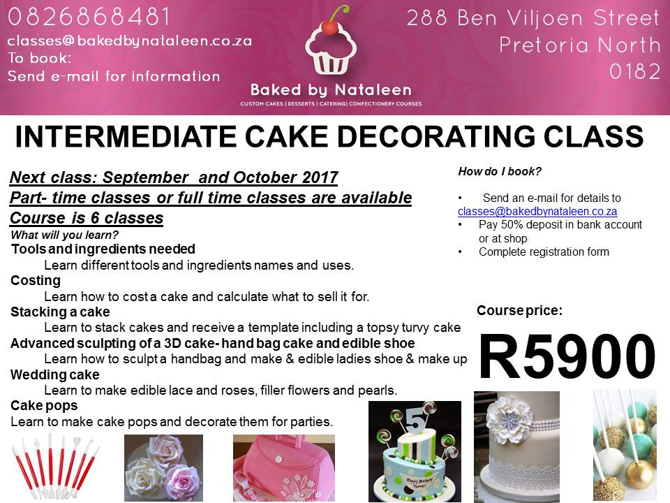 Baking classes baked by nataleen cake decorating intermediate course yadclub Images