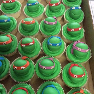 3D Ninja turtle cupcakes