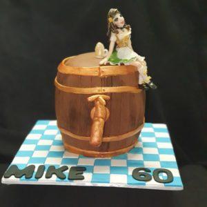 girl on cake
