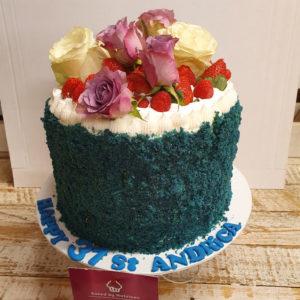 flower arrangement birthday cake