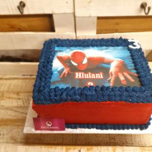 Spiderman birthday cake