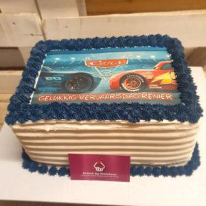 custom cars print cake