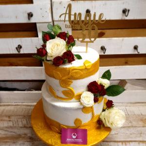 3d flower cake