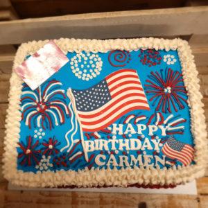 American themed birthday cake