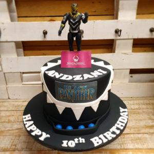 black panther birthday cake