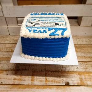 company birthday cake