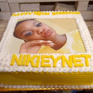 custom photo print birthday cake