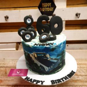 nissan car birthday cake