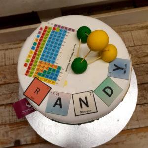 periodic table birthday cake