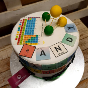 periodic table birthday cake