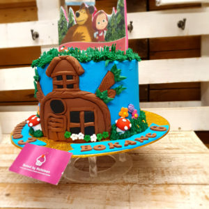 house in forest birthday cake