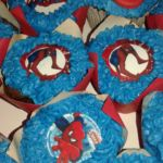Spiderman printed cupcakes