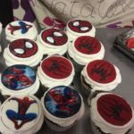 Spiderman edible print discs cupcakes